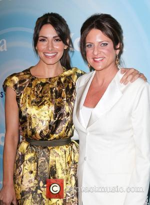 Sarah Shahi and Cathy Schulman
