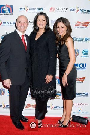 Salvatore Cassano, Sukanya Krishnan and Lisa Mateo World Police and Fire Games Benefit Gala -Arrivals New York City, USA -...