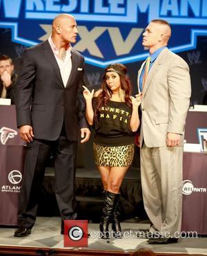 Dwayne Johnson, John Cena and Nicole Polizzi
