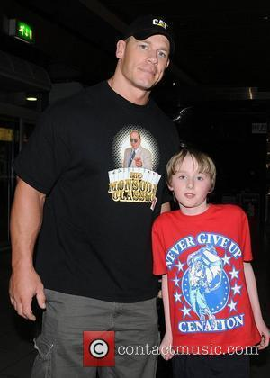John Cena and Ciaran McDonnell WWE RAW Wrestling Superstars at The O2 Arena Dublin, Ireland - 15.04.11