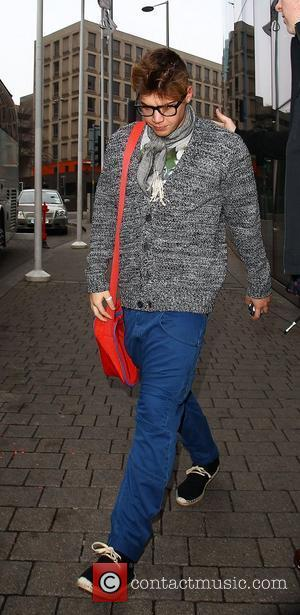 Aiden Grimshaw The X Factor finalists leaving their hotel to go to rehearsals for The X Factor Live Tour Birmingham,...