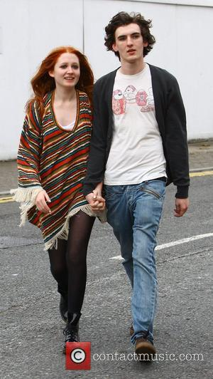 Janet Devlin arrives at 'The X Factor' studios with her boyfriend Brendan Sally ahead of tonight's live results show London,...