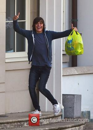 Frankie Cocozza  'X Factor' finalists outside the X Factor house London, England - 03.10.11