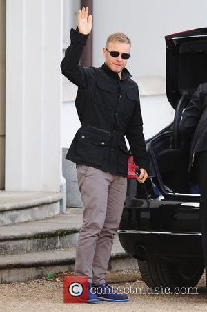 Gary Barlow at the X Factor House England - 19.10.11