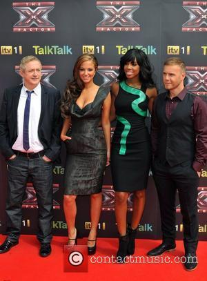 Louis Walsh, Gary Barlow and Kelly Rowland