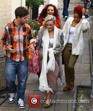 X Factor finalists Jade Thirwell, Perrie Edwards and Leigh-Anne Pinnock of Little Mix arriving at rehearsals London, England - 04.11.11