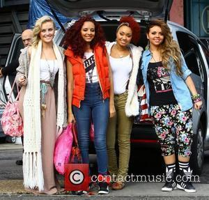 X Factor finalists Perrie Edwards, Jade Thirwell, Leigh-Anne Pinnock and Jesy Nelson of Little Mix arriving at rehearsals London, England...