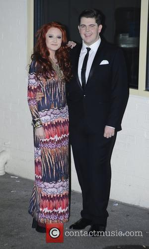Craig Colton and Janet Devlin 'The X Factor' judges and finalists depart the show's studios after the live programme on...