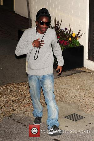 Tinchy Stryder seen outside of X Factor studios after a live show London, England - 30.10.11