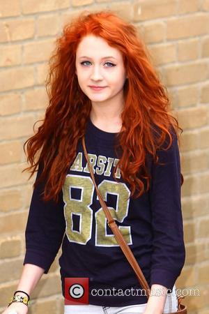 Janet Devlin arriving at 'The X Factor' studios London, England - 13.10.11