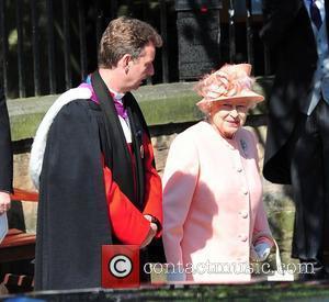 Queen Elizabeth II  The wedding of Zara Phillips and Mike Tindall at Canongate Kirk  Edinburgh, Scotland - 30.07.11