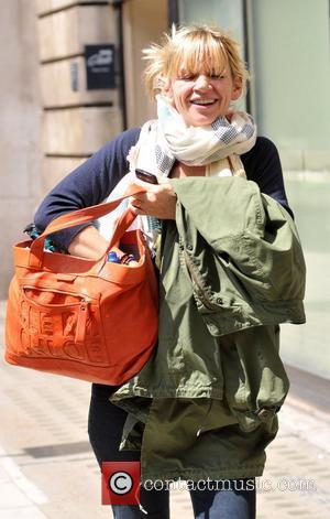 Zoe Ball leaving the BBC Radio Two studios London, England - 30.05.11