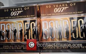 Britt Ekland 007 Days of Bond - The seven day Bond Blu-relay arrives at HMV Oxford Street on the final...