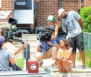Sharon Leal, Director Tommy Oliver Film Set for the movie '1982' in West Oak Lane, Philadelphia Pennsylvania, USA - 19.07.12