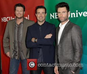 Blake Shelton; Carson Daly; Adam Levine NBC Universal's '2013 Winter TCA Tour' Day 1 at Langham Hotel  Featuring: Blake...