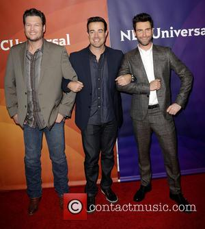 Blake Shelton, Carson Daly and Adam Levine