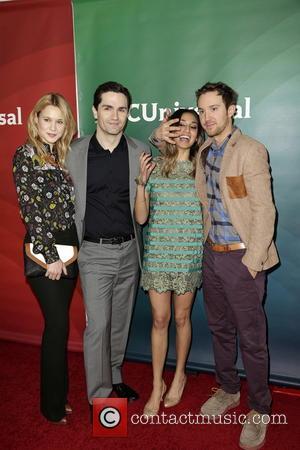 Kristen Hager, Sam Witwer, Meaghan Rath and Sam Huntington