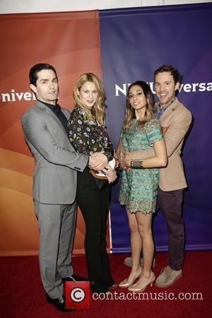 Sam Witwer, Kristen Hager, Meaghan Rath and Sam Huntington