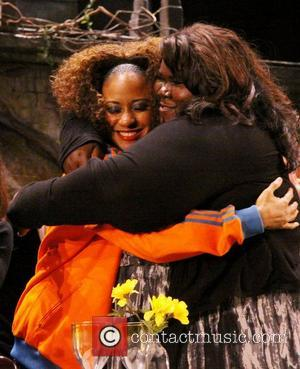 Tracie Thoms and Gabourey Sidibe  Curtain Call for Mont Blanc's 12th Annual production of The 24 Hour Plays, a...