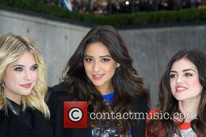 Ashley Benson, Shay Mitchell, Lucy Hale and Rockefeller Center