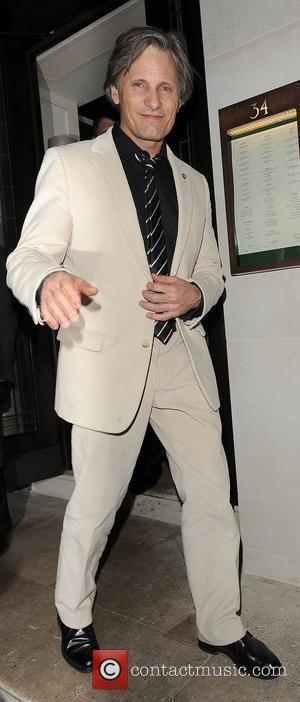 Viggo Mortensen leaving 34 restaurant. London, England - 31.01.12