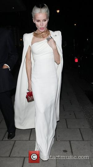 Daphne Guinness Celebrities leave 34 Restaurant in Mayfair London, England - 15.06.12
