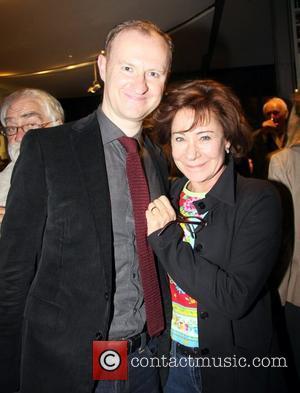 Mark Gatiss and  Zoe Wanamaker  attends the 55 Days press night at the Hampstead Theatre, Eton Avenue, Swiss...