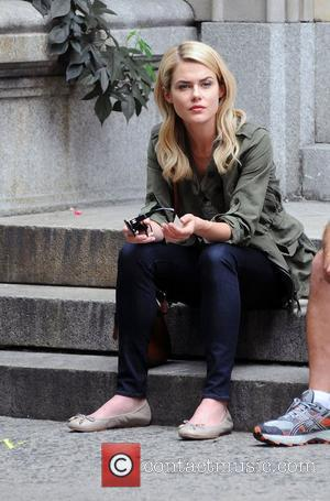 Rachael Taylor filming 666 Park Avenue on location in Manhattan New York City, USA - 14.08.12