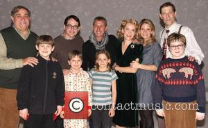 Dan Lauria; Matthew Broderick; Adam Shankman; Erin Dilly; Kelli Backstage at the Broadway musical 'A Christmas Story' at the Lunt-Fontanne...