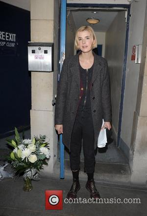 Agyness Deyn leaving Trafalgar Studios after her production of 'The Leisure Society' London, England - 29.02.12