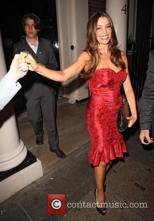 Sofia Vergara leaving the Arts Club in Mayfair London, England - 30.05.12