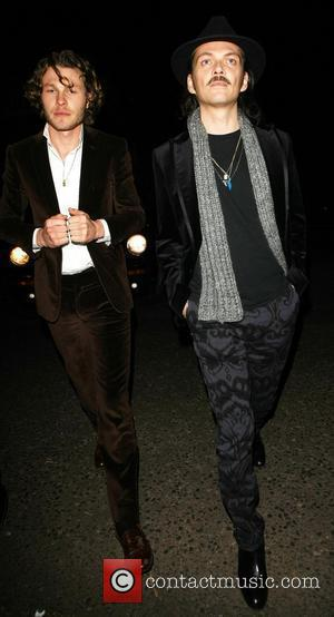 Matthew Williamson and a friend leaving the Arts Club London, England - 12.01.12