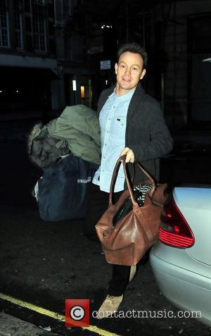 Jason Donovan arriving at the BBC Radio One studios Before appearing in the final of Strictly Come Dancing this Saturday...
