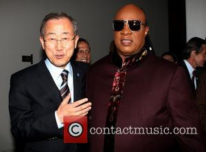 Ban Ki Moon and Stevie Wonder