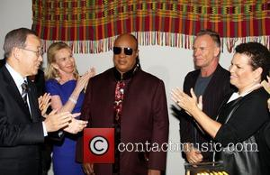 Ban Ki Moon, Stevie Wonder, Sting and Debra Lee
