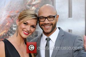 Stephen Bishop and guest Battleship premiere at the NOKIA Theatre - arrivals at L.A. LIVE Los Angeles, California - 05.10.12