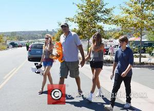 Brad Garrett and his family visit the Malibu chili cook off Malibu, California - 01.09.12