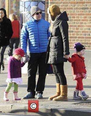 Matthew Broderick; Marion Broderick; Tabitha Broderick Matthew Broderick takes his twin daughters Marion and Tabitha Broderick to school  Featuring:...