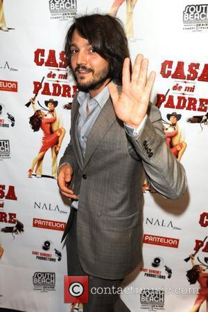 Diego Luna  The premier of Casa de Mi Padre at the Colony Theater  Miami Beach, Florida - 29.02.12