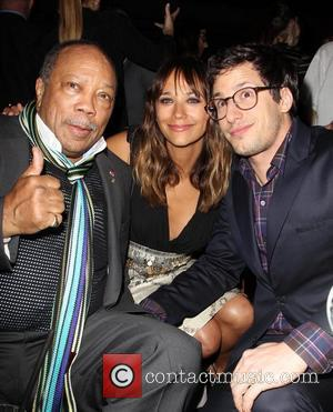Quincy Jones, Andy Samberg and Rashida Jones