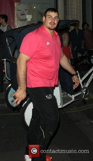 German Athlete leaving Chinawhite nightclub London, England - 09.08.12