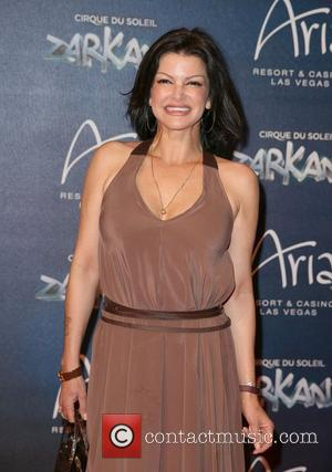Carla Pellegrino attends the Zarkana by Cirque Du Soleil swings into the spotlight at Aria Resort and Casino in Las...