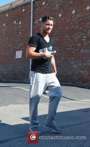 Val Chmerkovskiy leaving the 'Dancing With the Stars' rehearsal studio Los Angeles, California- 08.09.12