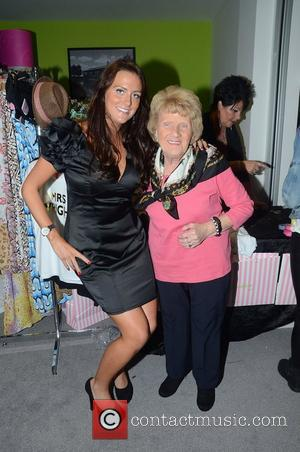 Alexis Smith And Nanny Pat  during Essex Fashion week 2012 at the Ceme Conference Centre in Rainham Essex, England...