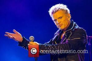 Billy Idol  performing during the 3rd day of Festival Mares Vivas at Praia do Cabedelo in Gaia Porto, Portugal...
