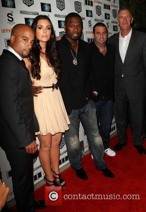 Jessy Terrero, Anabelle Acosta, 50 Cent aka Curtis Jackson, Producer Randall Emmett and Steve Beeks attend the Lionsgate Home Entertainment...