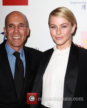 Jeffrey Katzenberg, Julianne Hough and Beverly Hilton Hotel