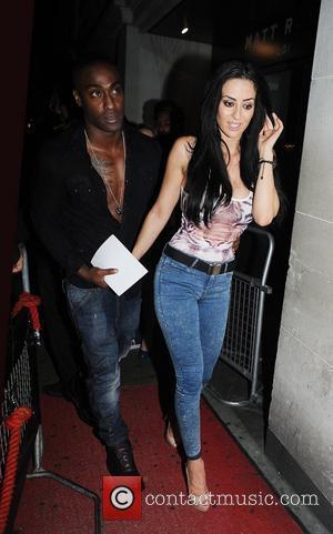 Simon Webbe and girlfriend Maria Kouka arriving at Funky Buddah nightclub London, England - 26.06.12