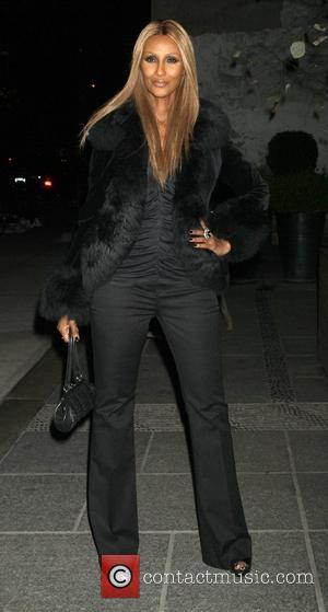 Iman attends the Gato Negro Films & the Cinema Society screening of Hotel Noir at the Crosby Hotel New York...
