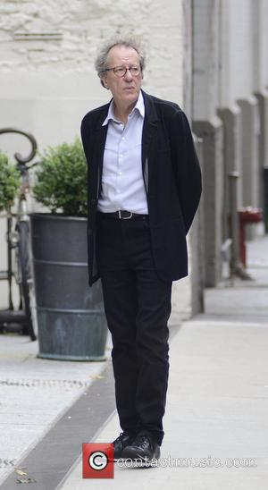 Actor Geoffrey Rush standing outside a Soho hotel New York City, USA - 08.09.12